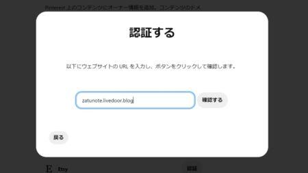 (3)Pinterestに戻りドメインを入力1